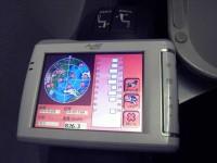 MioC310飛行機にて